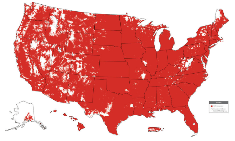 Verizon Wireless Coverage Map