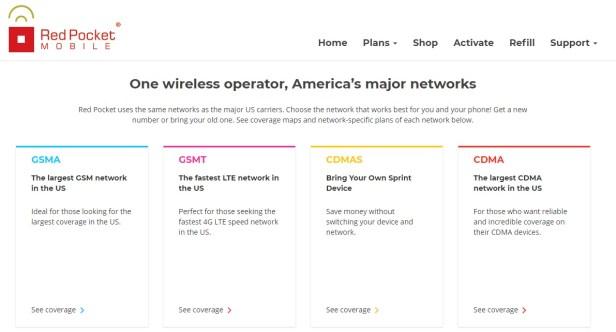 Red Pocket Mobile networks
