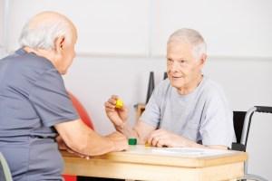 senior citizens in nursing home