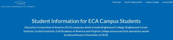 ECA campus announcement