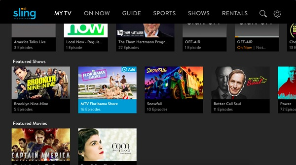 Sling TV display on Roku (Image: Sling TV)