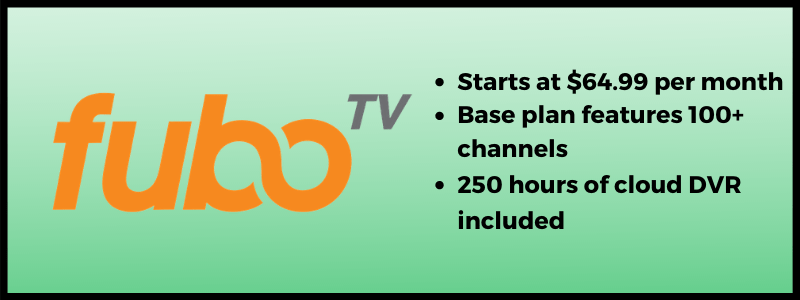 fuboTV streaming plans