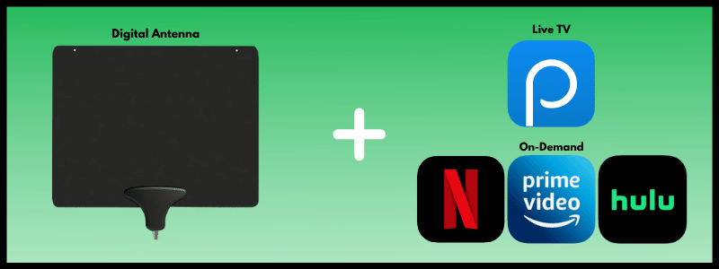 A digital antenna combined with Philo's live TV streaming app and an on-demand streaming service like Netflix, Hulu and/or Amazon Prime Video will make you a big saver on your streaming costs.