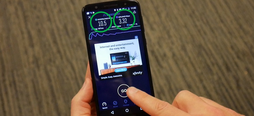 Unreal Mobile Speed Test Results