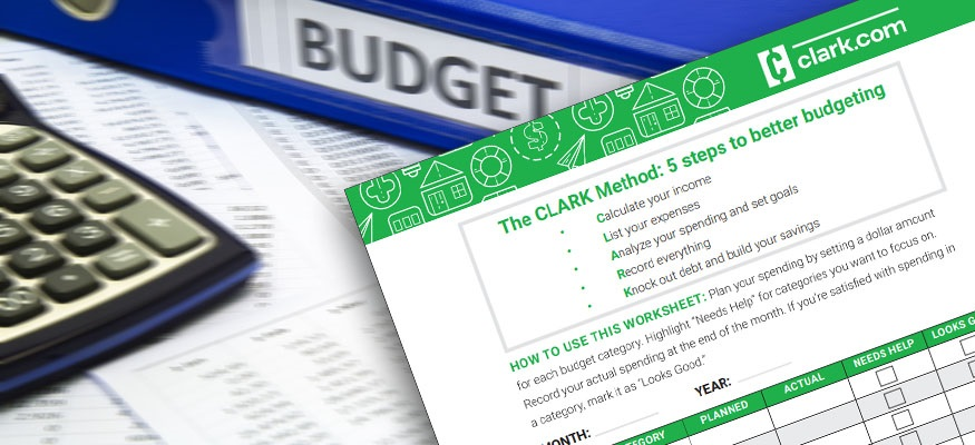 Free Budget Worksheet The Clark Method To Create A Monthly Budget
