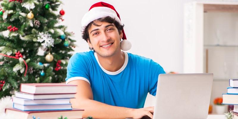 college student christmas tree