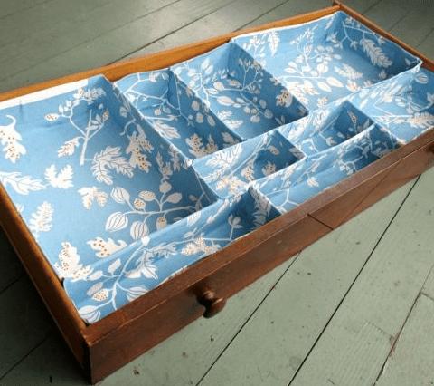 Custom DIY drawer organizer