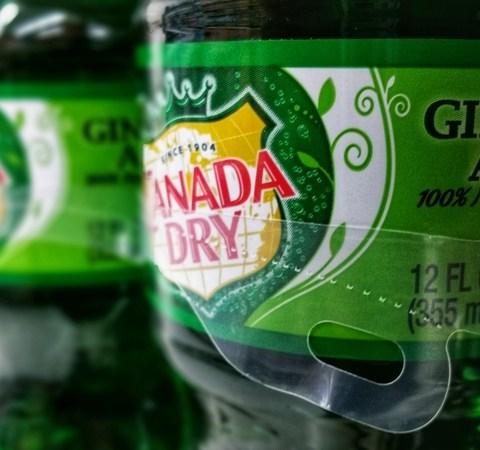 canada dry ginger ale bottles