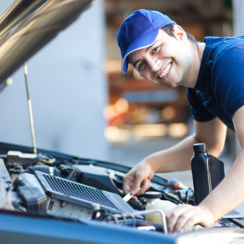 mechanic working in auto repair shop