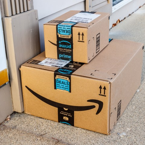 amazon prime deliveries on doorstep