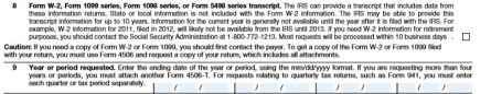 IRS form 4506 request for transcript of tax return