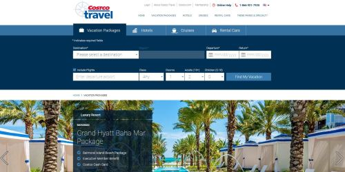 costco travel vacation package
