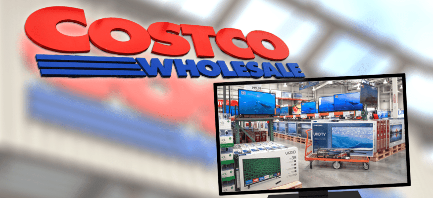 Shopping for a new TV in the Costco warehouse TV section