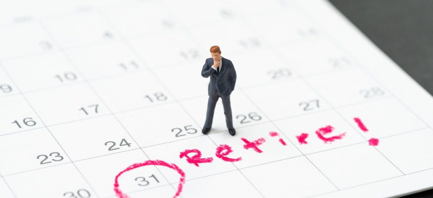 date for retirement circled on a calendar