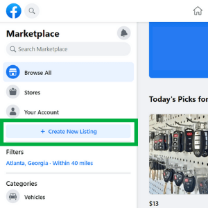 How to create a listing on Facebook Marketplace.