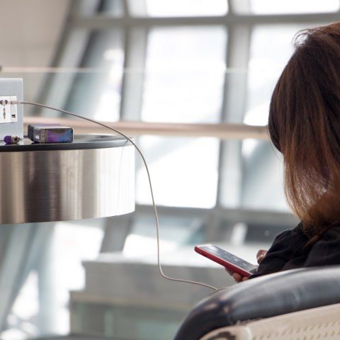 Airport USB charging station