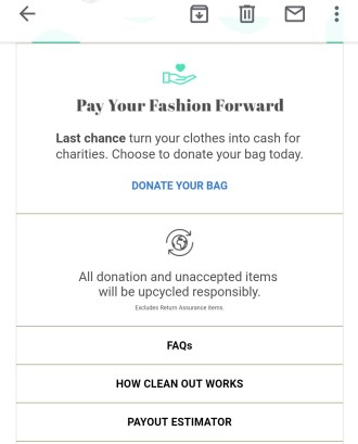 ThredUP last chance donation bag