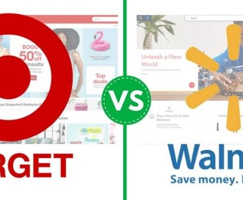 Target and Walmart logos