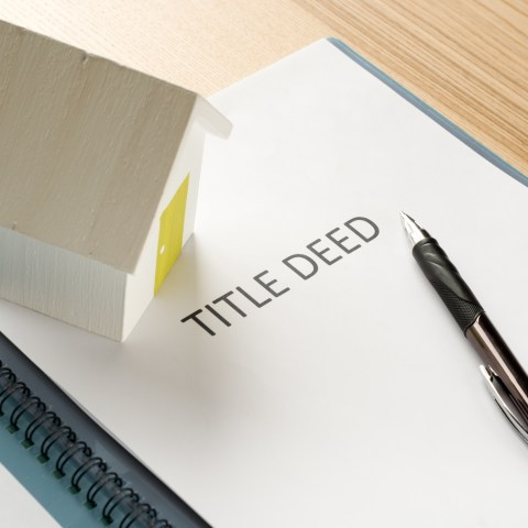 title deed to a home