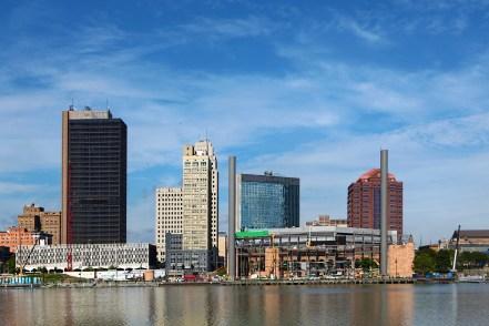 A View of the Toledo, Ohio skyline