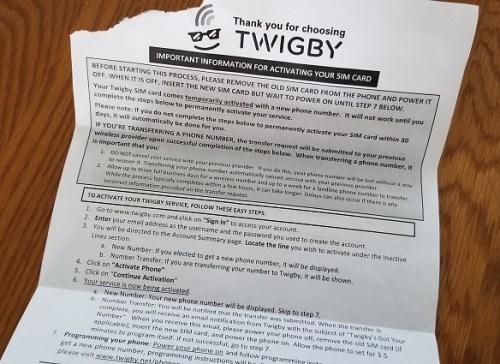 Twigby setup instructions