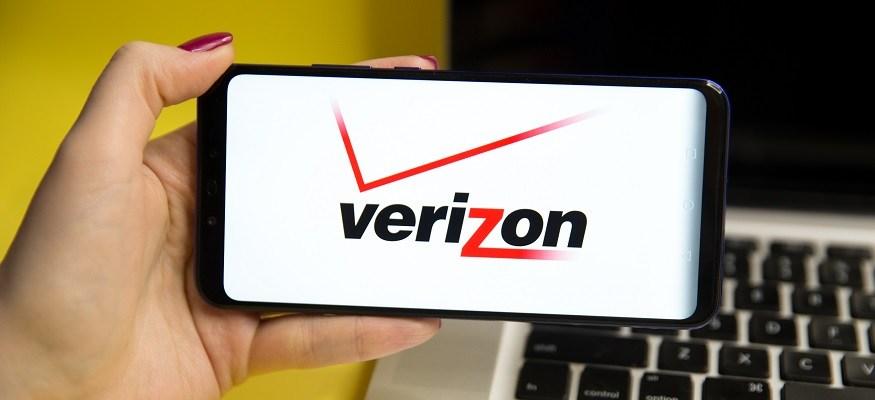 Verizon logo on a smartphone