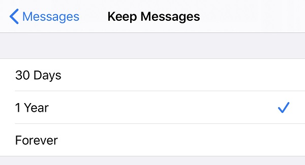 auto delete iMessages on iPhone