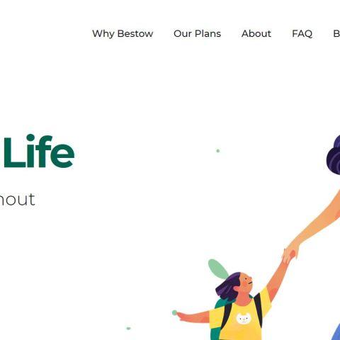 Bestow life insurance homepage