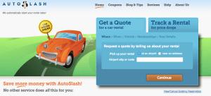 AutoSlash home page
