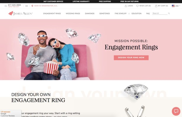 James Allen Engagement Rings
