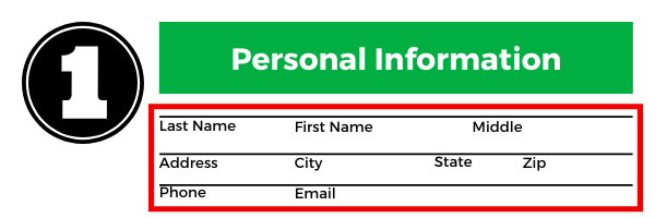 How to add your personal information on a job application