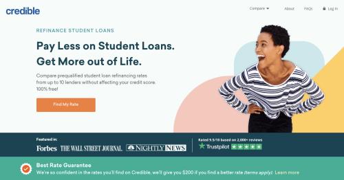Credible website screenshot