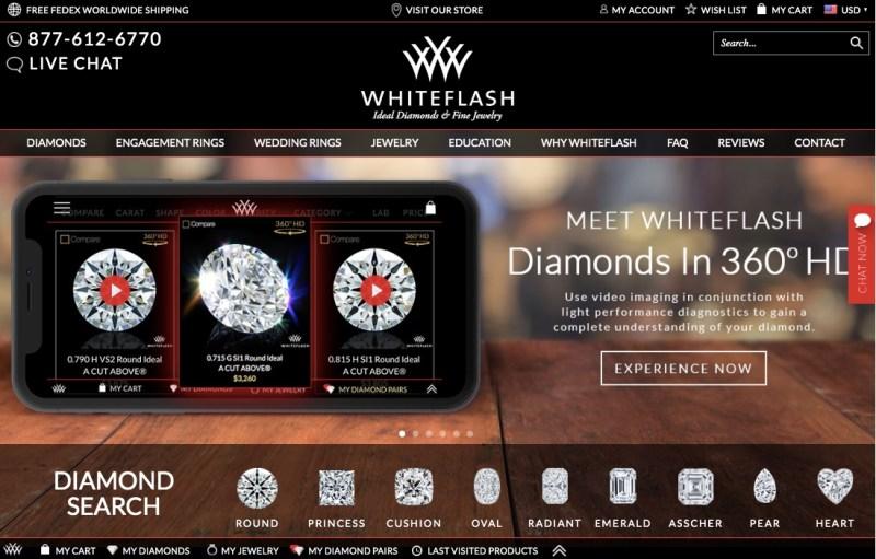 White Flash Engagement Rings