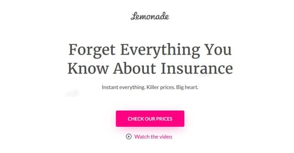 Lemonade Insurance screenshot