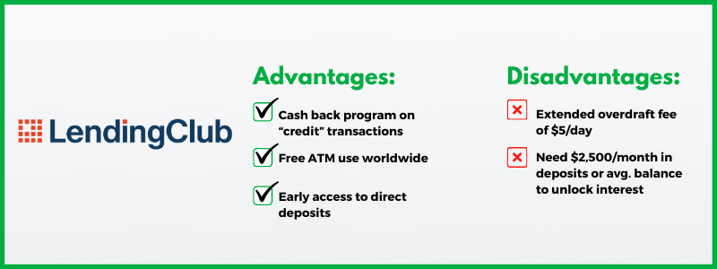 Lending Club offers one of the best online checking account options.