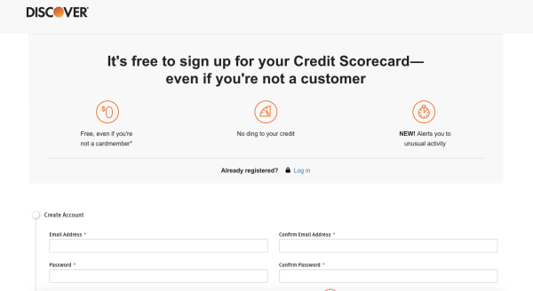 Discover Free Credit Scorecard
