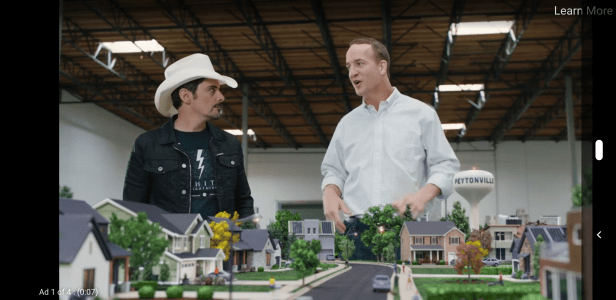 Brad Paisley and Peyton Manning were featured in commercials.