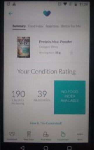 WellRx Food Index screenshot