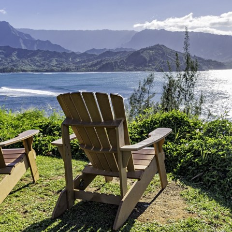 Two chairs overlooking Hawaii