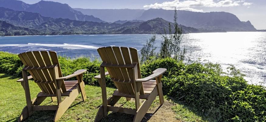 Two chairs overlooking Hawaii