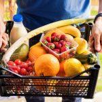 A shopper delivering groceries ordered online