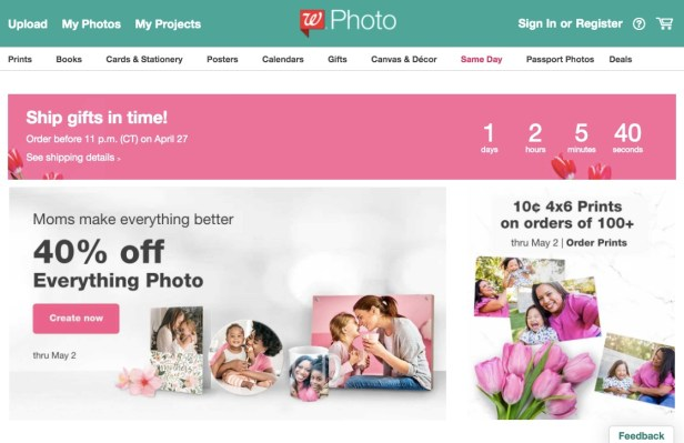 Walgreens Photo Website