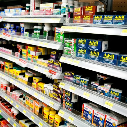 Over-the-counter drugs in store