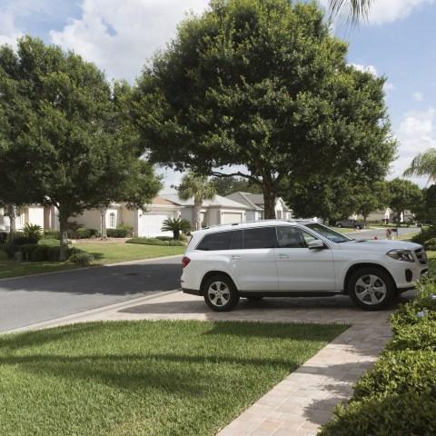 Car Sitting In Driveway