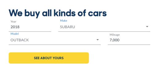 CarMax Sell Car