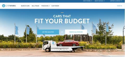 Carvana Home Page