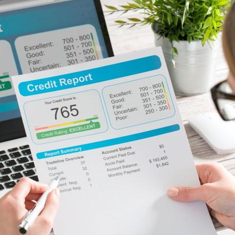 Checking credit score