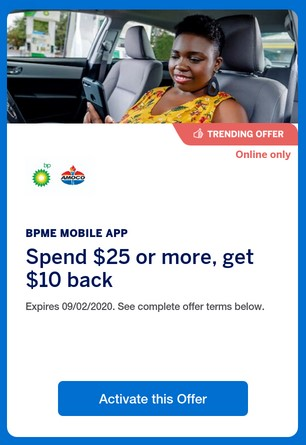 American Express is offering cash back for spending at BP or Amoco