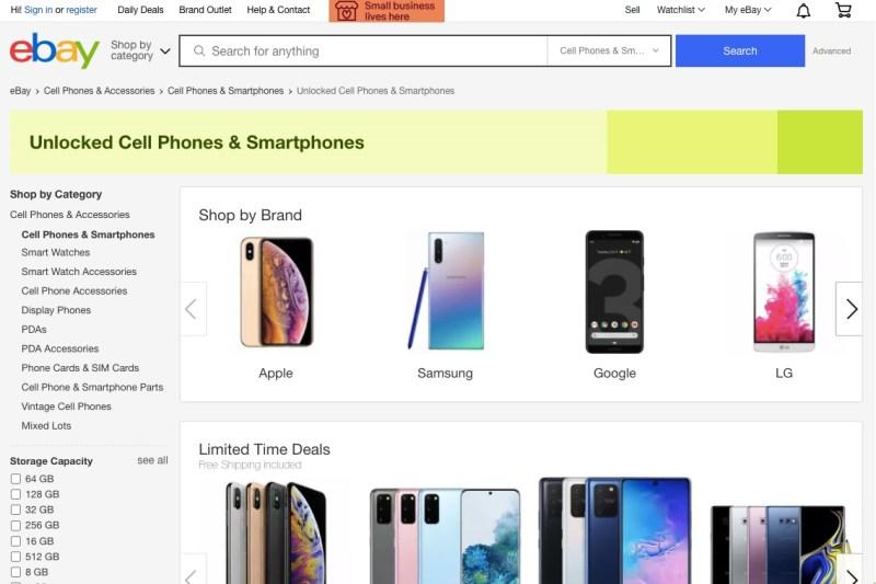 eBay online marketplace