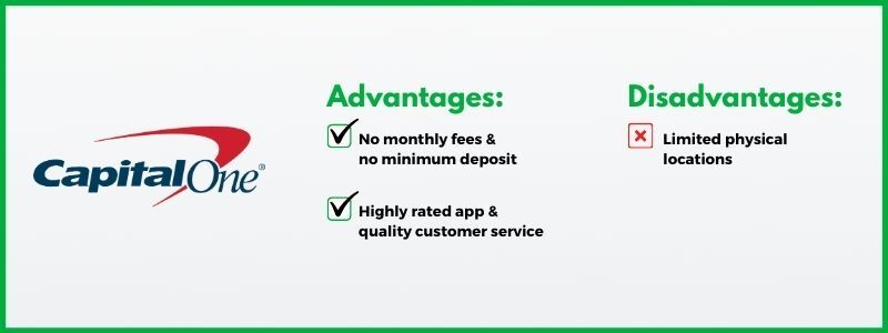 Capital One 360 offers a strong checking account option with few fees.